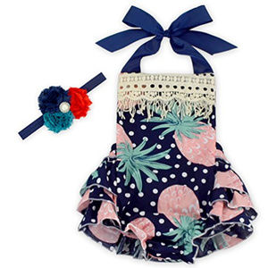 Other - Baby Girl Halter Romper with headband